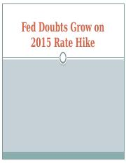7.Fed Doubts Grow on 2015 Rate Hike(1).pptx