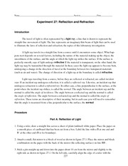 Lab27_Reflection_and_Refrac