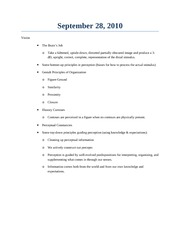 Class Notes September 28