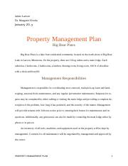 Property Management Plan (word)