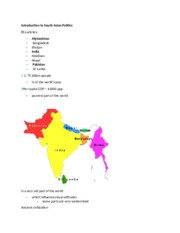 1. Introduction to South Asian Politics.docx