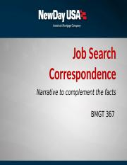 Job Search Correspondence PPT 09.21.16