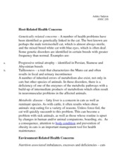 Host-Related Health Concerns Notes