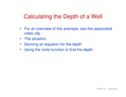21. Depth of a well