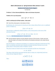 Math 1190 -- Solutions to the Practice Test for Chapter 3