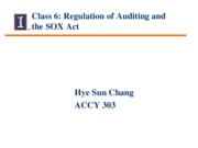 Session 6 - Regulation of Auditing and the SOX Act