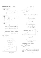 Exam 2 Study Guide Solution Spring 2008 on Analytic Geometry and Calculus B