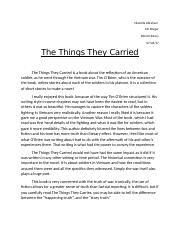 The Things They carried essay.docx