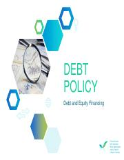 DEBT POLICY_Team5_final