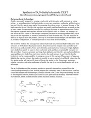 Synthesis of DEET (1)