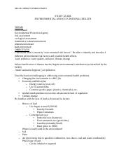 Study Guide Environmental and Occupational Health (2)