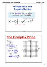 Complex Numbers Part 4