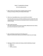 Chapter 5  Test Your Knowledge Questions (2)