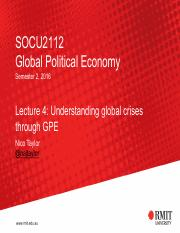 Lecture 4 - Understanding global crises through GPE(2)