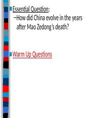China_After_Mao_Zedong.ppt