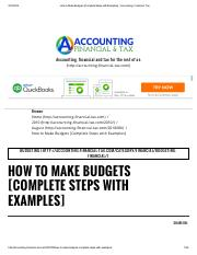How to Make Budgets [Complete Steps with Examples] _ Accounting, Financial, Tax.pdf