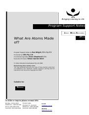 What are atoms made of clickview worksheet