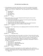 PSYC1002 The Midterm One The Mock Exam ANSWERS.doc