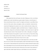 Graphic Novels Research Paper