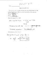 Quiz 1 Solution on Elementary Calculus