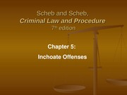 Ch 5 Inchoate Offenses