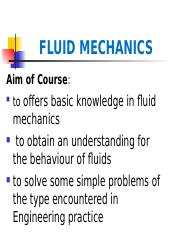 CE-156 FLUID MECHANICS-1