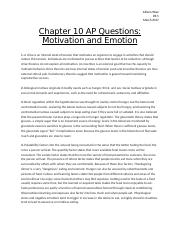 Chapter 10 AP Questions