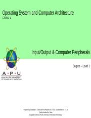 07_Input-Output and Computer Peripherals.ppt