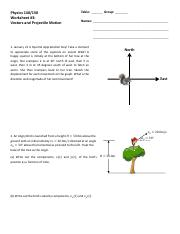 Worksheet 3 - Vectors and Projectile Motion.pdf