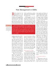 Reading 4.1 - Risk management in SMEs