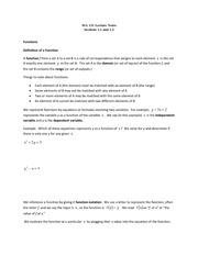 lecture 1 on Calculus I
