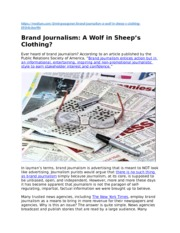 Insight Post #2 - Brand Journalism