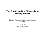 EU Euro Court of Justice
