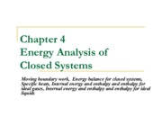 Chapter 4 - Energy Analysis of Closed Systems