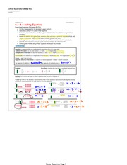 Linear Equations Review Key