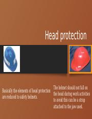 Head protection.pptm