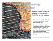 Chapter6-OpticalMineralogy