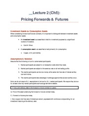 L2 Ch5 Hedging Forwards & Futures