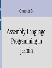 Chapter 3 Assembly Language Programming in jasmin.ppt