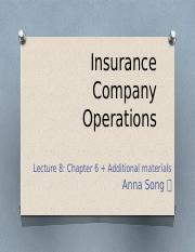Lecture8_ch6_Insurance company operations
