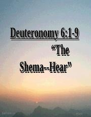 Deuteronomy6Sermon