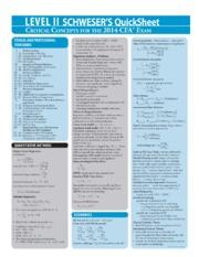 2014 CFA Level 2 Quicksheet - PRINTED BY Daniel Smith