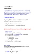 Lecture 4 Notes Bond Stability