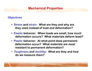 My chapter 6 Mechanical Properties