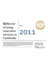 (FDN501) BEHAVIOR OF USING INSURANCE SERVICES IN CAMBODIA
