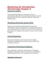 Marketing An Introduction ch 4.docx
