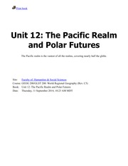 Unit 12-The Pacific Realm and Polar Futures