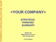 Applied Strategic Thinking - Strategy template
