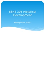 BSHS 305 Historical Dev Wk 1 pwr pts.pptx