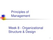 Week 8 Organizational Structure and Design